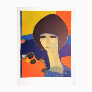 Tribute to Modigliani Lithograph by André Minaux