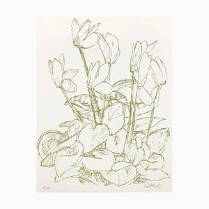 Cyclamen Lithograph by Bernard Cathelin