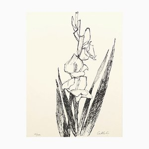 Flowers Lithograph by Bernard Cathelin