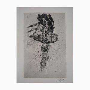 Le Hibou Engraving by Johnny Friedlaender