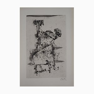 The Rams Etching by Johnny Friedlaender