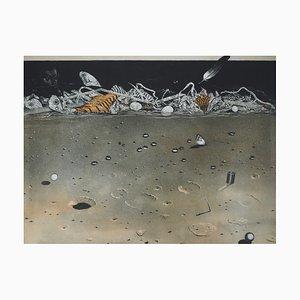 A Coté de la Rivière Engraving by Hiroshi Asada