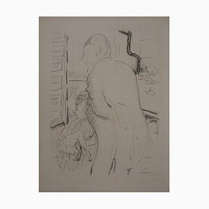 Gentleman and his Dog Lithograph by Pierre Bonnard