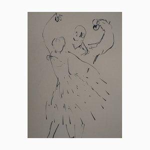 Les castagnettes Zeichnung von René Genis