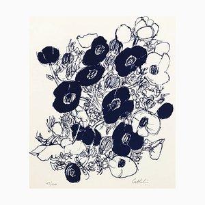Bernard CATHELIN - Anémones - Original lithograph handsigned and numbered