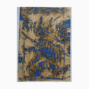 Blue Birds Lithograph by Alan Frederick Sundberg, 1980