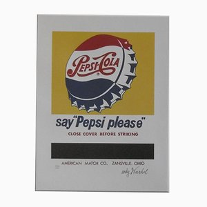 Andy WARHOL (after) - PEPSI COLA, signed lithograph signed in the plate with stamp by the CMOA