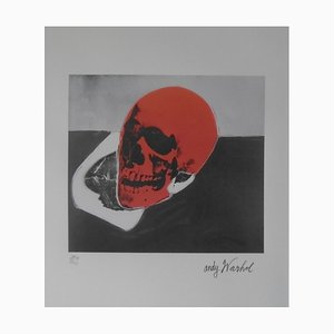 Red Skull Lithograph Reprint by Andy Warhol
