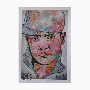 Ben Frost Denial and DJ Qbert -DJ Qbert, Hand signed lithograph