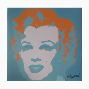 Marilyn Monroe Blue Lithograph Reprint by Andy Warhol