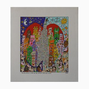 Impression sur Toile Artwork von James Rizzi, 1999