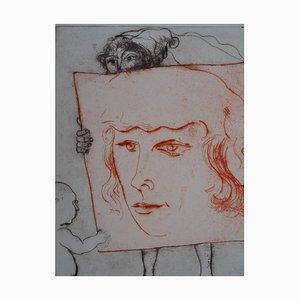 Gravure à l'Eau Forte par Filippino Lippi (Portrait of a Court man) par Mordecaï Moreh