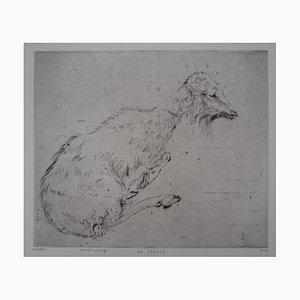 La Chèvre Engraving by Mordecaï Moreh