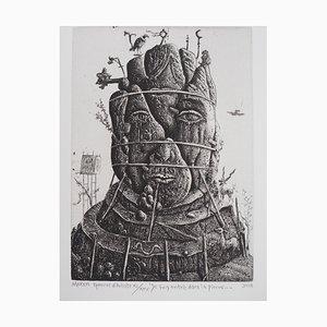 Je Suis Entré Dans la Pierre Engraving by Mordecaï Moreh