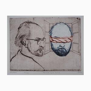 Portrait d'un Artiste Engraving by Mordecaï Moreh