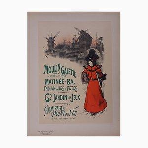 Moulin de la Galette Lithograph by Roedel, 1897