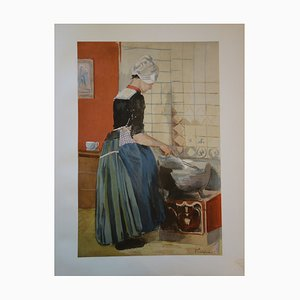 I La Servante Lithograph by F. Luigini, 1897