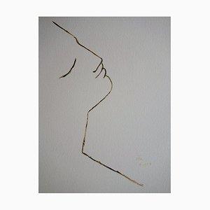 Litografia Profi d'un Rêveur di Jean Cocteau