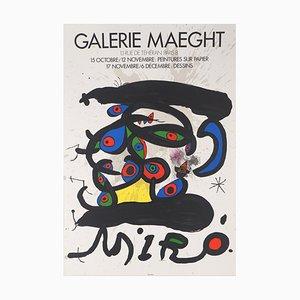Lithographisches Plakat mit mehreren Farbigen Augen von Joan Miró