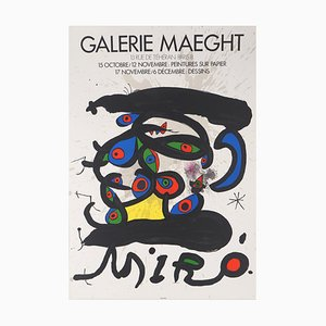 Multiple Coloured Eyes Lithographic Poster by Joan Miró