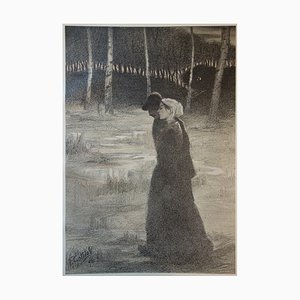 F. Gottlob - The Promise, 1987, Original signed lithograph