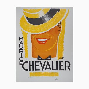 Maurice Chevalier Lithograph by Charles Kiffer