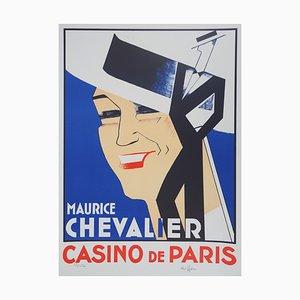 Maurice Chevalier au Casino de Paris Lithograph by Charles Kiffer