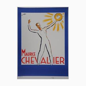 Litografia Maurice Chevalier au Soleil di Charles Kiffer