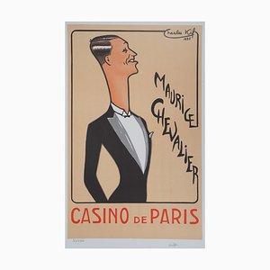 Maurice Chevalier in Tuxedo Lithographie von Charles Kiffer