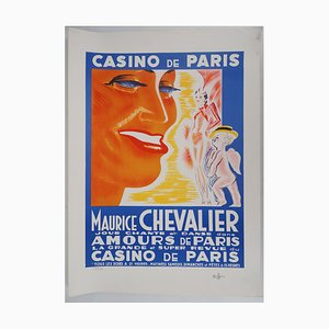 Maurice Chevalier Amour Lithograph by Charles Kiffer
