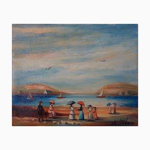 Bord de Mer Oil on Canvas by Michel Pabois