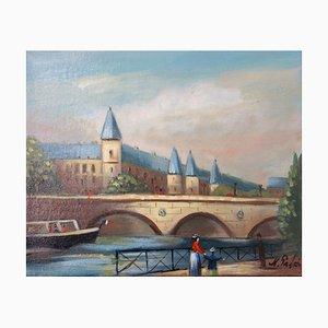 La Conciergerie Oil on Canvas by Michel Pabois