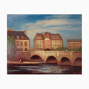 Le Pont Neuf Oil on Canvas by Michel Pabois