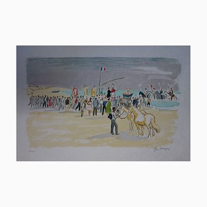 Le Procession aux Saintes Maries Lithograph by Yves Brayer