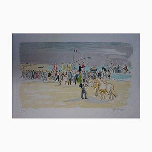Litografia Le Procession aux Saintes Maries di Yves Brayer