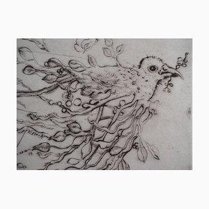 L'oiseau du Printemps Radierung von Mordecai Moreh