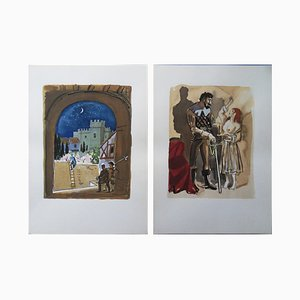 The Celestine Lithographs by Yves Brayer, Set of 18