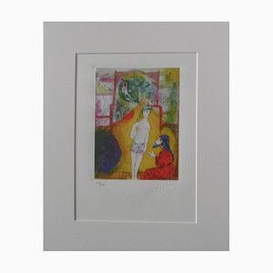 Thousand and One Nights Plate 1 Lithograph Reprint by Marc Chagall, 1985