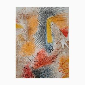 Lithographie Astres et Visages par André Masson, 1972