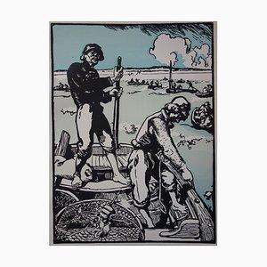 Litografia Loups de Mer di Louis-Auguste Lepère, 1897
