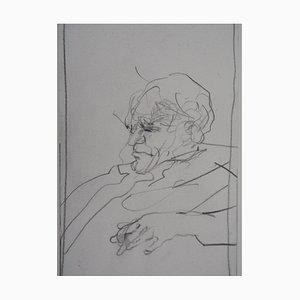 Portrait eines Mannes Zeichnung von Claude Weisbuch