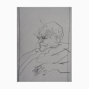 Portrait of a Man Drawing by Claude Weisbuch