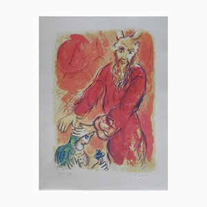 Jahwe Lithograph Reprint by Marc Chagall, 1984