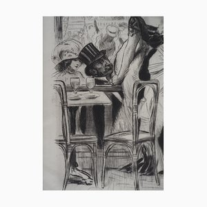Cancan Dancer Engraving by Alméry Lobel-Riche