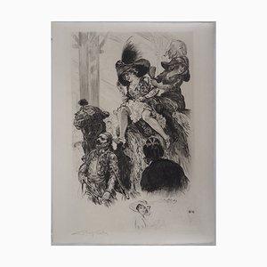 Deux Femmes sur un Chameau Engraving by Alméry Lobel-Riche