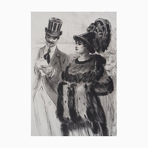 Alméry LOBEL-RICHE - The encounter, original signed engraving