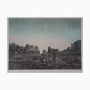La Cité Engraving by Karin Schaub