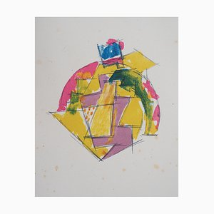 Jacques VILLON : La tête - Lithographie Originale Signée