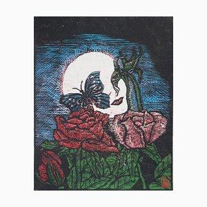 Wild Rose I Radierung von Reno Megy