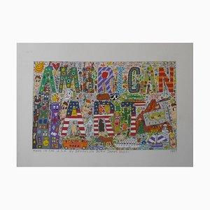 "James Rizzi, lithographie en 2 d, ""American Art 1997"" Brooklin usa"